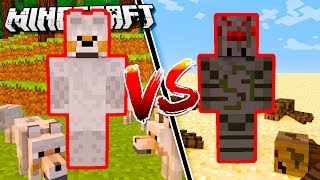 SPIDER ARMOR vs. WOLF ARMOR in Minecraft!