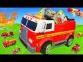 العاب سيارات #سيارات اطفاء#'العاب اطفال#fir truck