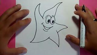 Como dibujar una estrella paso a paso 3 | How to draw a star 3