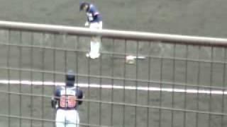 山田は観客意識してか、遊びながら練習してた。 馬渕、走りこんでるぅ~...