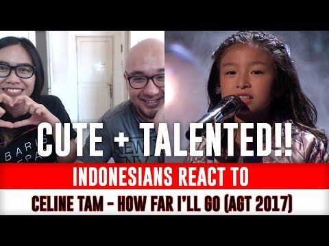 Indonesians React To Celine Tam - How Far I'll Go (Moana OST) America's Got Talent 2017