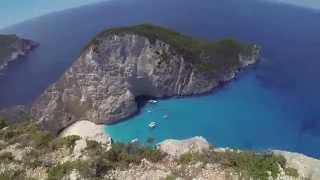 #ParavionLIVE. Plaja Navagio văzută de pe stânci. Zakynthos, Grecia