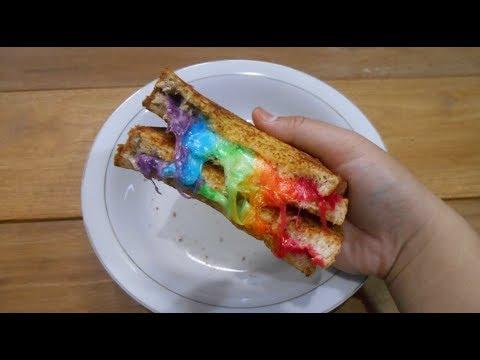 Cara Membuat Roti Panggang Pelangi | How To Make Mozzarella Rainbow Toast (Rizki Firdausi)