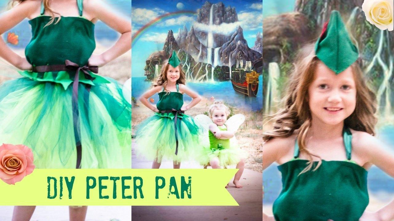 sc 1 st  YouTube & DIY PETER PAN Costume TUTU NO SEW!!! - YouTube
