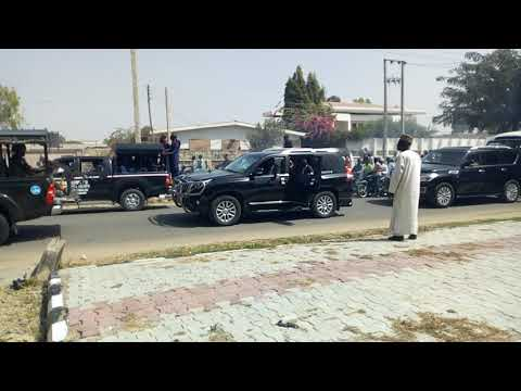 Buhari arrived in Kano
