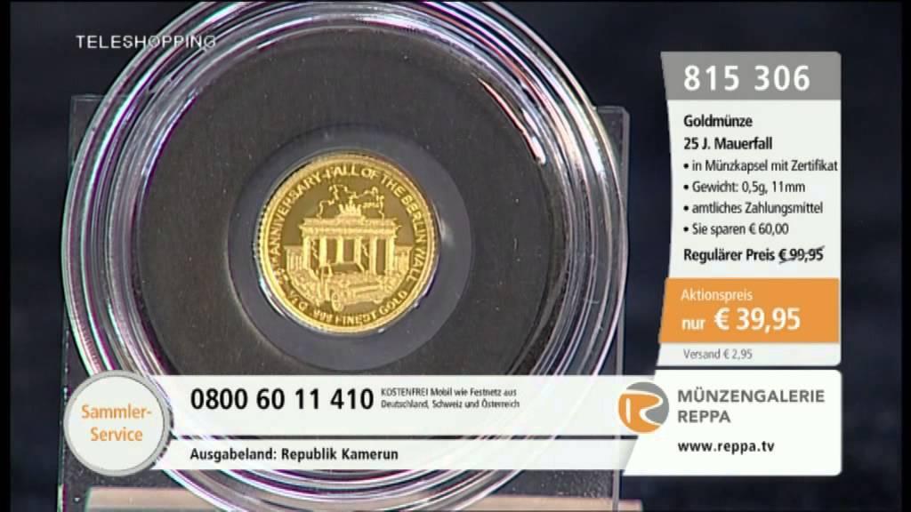 Kleine Goldmünze 25 Jahre Mauerfall Youtube