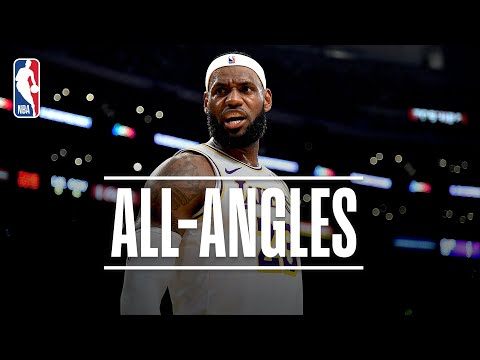 ALL-ANGLES: LeBron's INSANE No-Look, Over-the-Shoulder Dime! | 2019 NBA Preseason