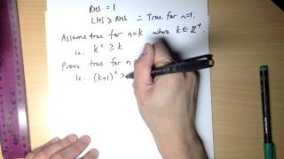 Induction Inequality Proof Example 2: n² ≥ n
