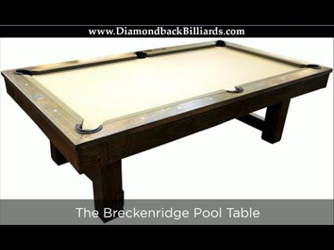 Breckenridge Pool Table 480-792-1115 Custom Options & Pricing