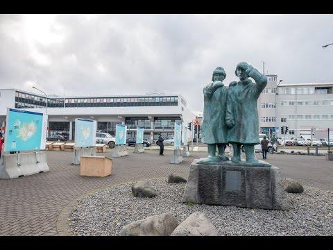 Looking Seawards and maritime memorial, Reykjavik, Iceland