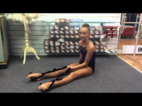 improve your split theraband stretch strap  youtube