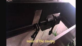 55 Gallon Setup - Diy Canopy With A Counter!