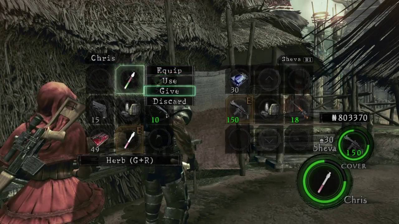 resident evil 5 on ps4 how to farm magnum ammo and herbs on chapter