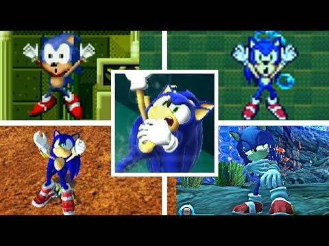 Evolution Of Sonic Drowning In The Sonic The Hedgehog Series 1991 2020 Genesis Gba Pc More Youtube