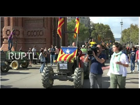 LIVE: Supporters of Catalan independence rally in Barcelona