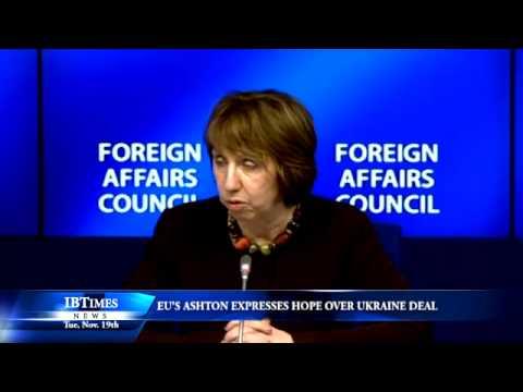EU's Ashton Expresses Hope Over Ukraine Deal