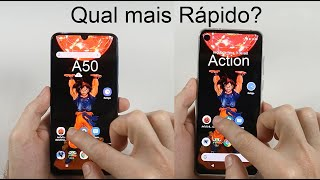 Speedtest Galaxy A50 vs Motorola One Action