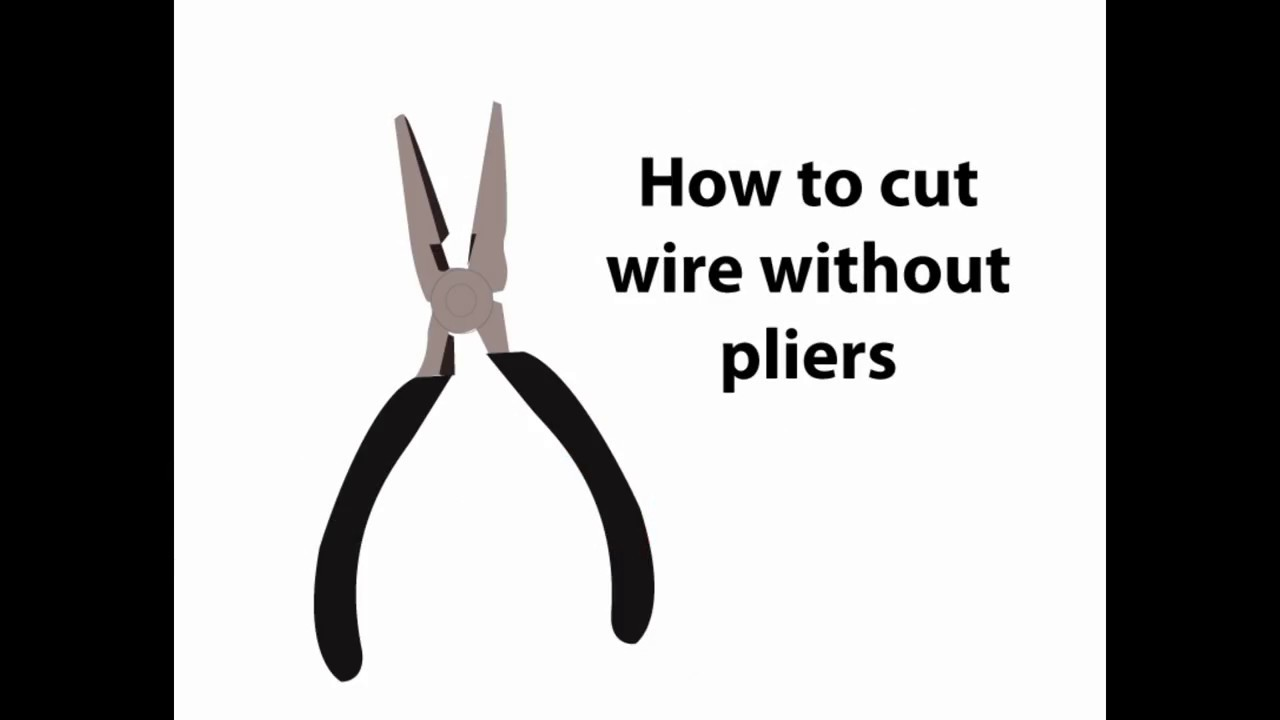How To Cut A Wire Hanger Without Cutters Center Http Wwwrosepickupscom 5wayswitchwiringdiagramjpg Pliers Youtube Rh Com