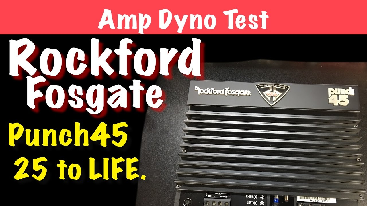 Rockford Fosgate Punch45 25 To Life Amp Dyno Test Youtube Punch 45 2 Sale