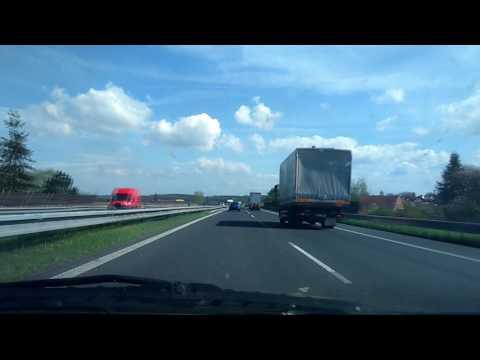 Driving from Prague to Mlada Boleslav (Czech Republic)