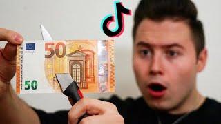 Geld ZERSTÖREN?! Ich teste VIRALE TikTok Zaubertricks..! (zum nachmachen)
