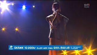 Laleh - Some Die Young a capella @ hela Sverige skramlar, Globen, Stockholm Sweden 2015