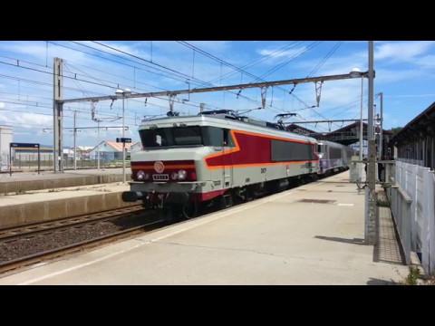 La CC 6570 + BB 22266 en CV sur un W Sète - Narbonne