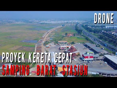 Flying Around Samping Barat Stasiun Tegalluar Kereta Cepat Jakarta Bandung