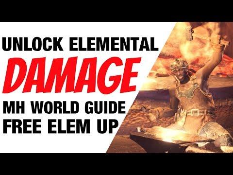 Monster Hunter World Guide Unlock Hidden Element (grey damage) MHW