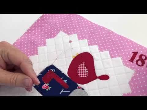 How to Sew Buttons on Your Love Notes Mini Quilt