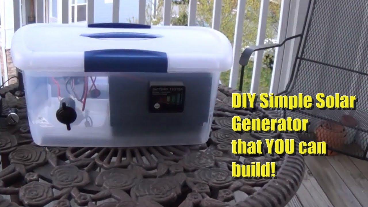 DIY Portable Solar Generator - YouTube