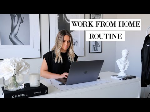 WORK FROM HOME ROUTINE 2020 + HOW I STAY PRODUCTIVE  | Katie Musser