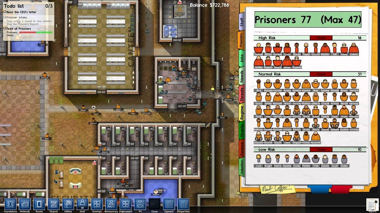 Prison architect alpha 6 youtube for Jail architect