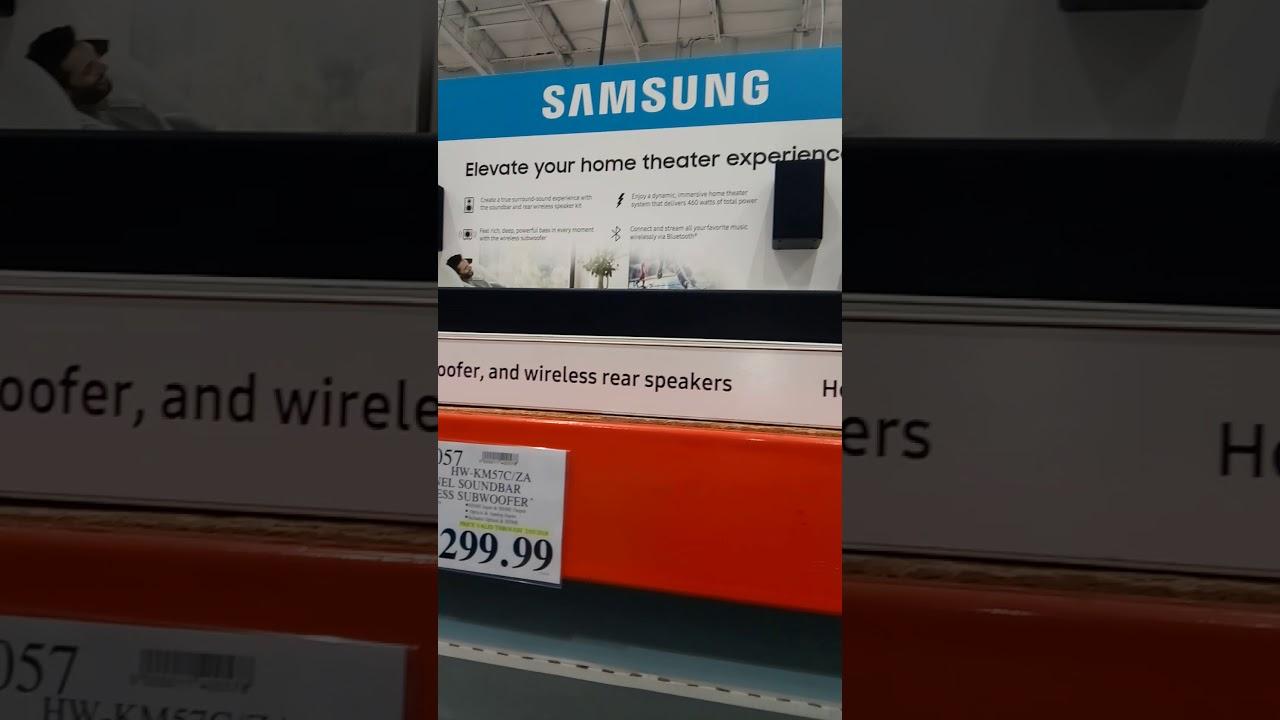 Costco Samsung 5 1 Soundbar With Wireless Subwoofer Youtube
