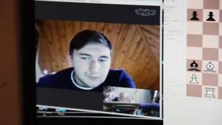 Чемпион мира по шахматам Сергей Карякин на игре с певоуральцем Николаем Грудинкиным