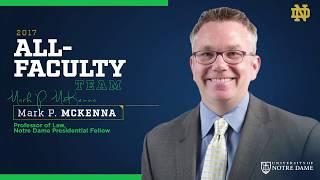 2017 Notre Dame All-Faculty Team – Mark McKenna