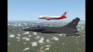 FS2004 - Intercepted Over France (Air Berlin Flight 344E)