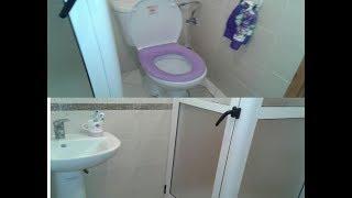 جولة في حمام منزلي البسيط في السكن الاقتصادي أفكار كيف انظم الاشياء فيه Bathroom tour