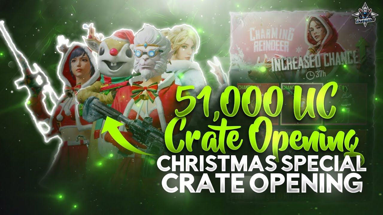 PUBG MOBILE 51000 UC CRATE OPENING BY DYNAMO | CHRISTMAS SPECIAL CRATE OPENING