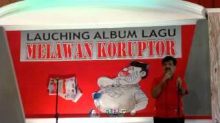 Adi Warman, SH, MH, MBA, memberikan Sambutan pada Lounching Album Lagu Melawan Koruptor