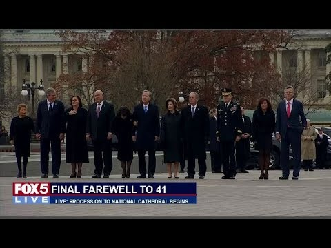 FOX 5 LIVE (12/5): FINAL FAREWELL to BUSH 41 - Fmr. Pres. George H.W. Bush honored at cathedral
