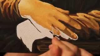 Картины по номерам. Часть 3. Пишем руки Джоконды(Как написать картину по номерам, особенно если это портрет? В этом видео мы продолжаем писать картину