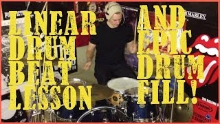 Linear Drum Beat & Drum Fill - Drum Lesson #128