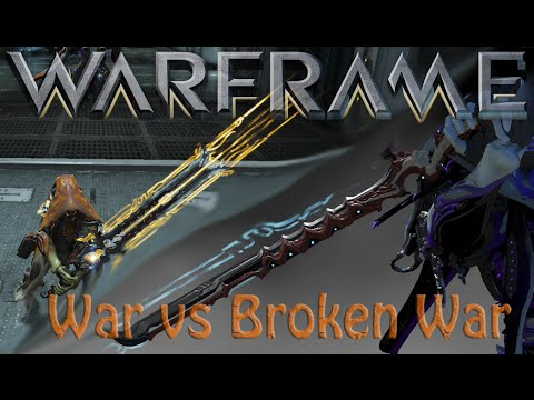 Warframe War Vs Broken War Youtube