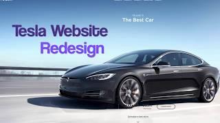 Tesla Website Redesign