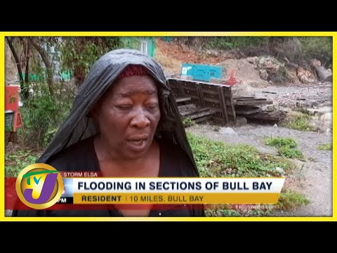 Flooding in Sections of Bull Bay, Jamaica   TVJ News - July 4 2021