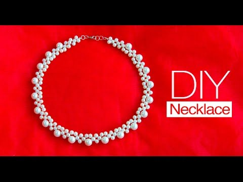 How to make pearl bridal necklace | DIY | jewelry making | Beads art