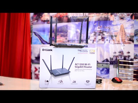 D-Link DIR-825 AC1200  Wifi Router Unboxing and Review