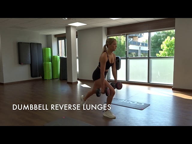 Dumbbell Reverse Lunges