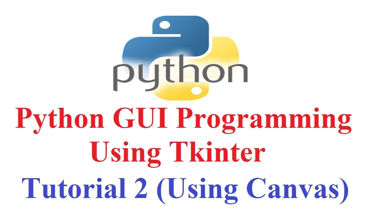 Python GUI Programming using Tkinter #2 (Display images and Shapes in  canvas)